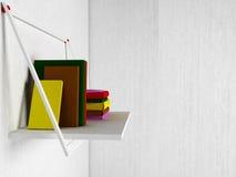 Books on the shelf, 3d. Rendering Stock Image