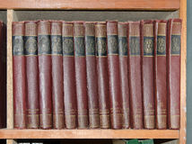 Books on a shelf Royalty Free Stock Photography