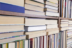 Books on a shelf perspective Royalty Free Stock Image