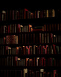 Books on shelf rendered Stock Images