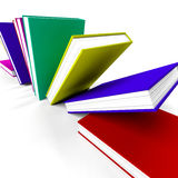 Books On A Shelf Shows Learning Or Education Stock Images