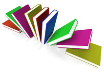 Books On A Shelf Shows Learning Or School Royalty Free Stock Photography