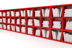 Books shelves, library Stock Photos