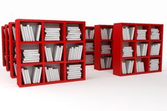 Books shelves, library Stock Image