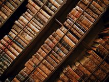 Books on shelves in library Royalty Free Stock Photography