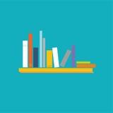 Books on the shelves Stock Photo