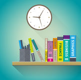 Books on the shelves Royalty Free Stock Images