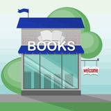 Books shop building. Royalty Free Stock Image