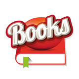 Books sign vector. Red Royalty Free Stock Photography