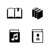 Books. Simple Related Vector Icons Royalty Free Stock Photos