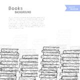 Books sketch background Royalty Free Stock Image