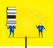 Books or smart phone Royalty Free Stock Image
