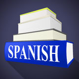 Books Spanish Means Translate To English And Dialect Royalty Free Stock Photo