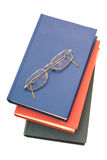 Books and spectacles Stock Photo