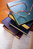 Books and Spectacles Royalty Free Stock Photo