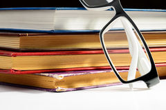 Books and Spectacles Royalty Free Stock Photography