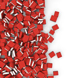 Books spill. 3D render of books spilling on to white surface Royalty Free Stock Images