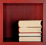 Books on square bookshelf Royalty Free Stock Image