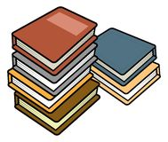 Books stack Royalty Free Stock Images