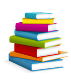 Books stack. Illustration of colorful books stacked royalty free illustration