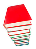 Books stack. On white background royalty free stock photography