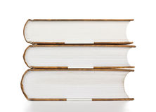 Books Stack. High stack of books on white royalty free stock photos