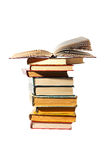 Books stack. On white royalty free stock photography