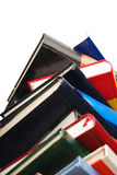 Books stack. Books pile isolated on white Royalty Free Stock Images