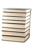 Books stack with clipping path Royalty Free Stock Photos