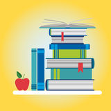 Books Stack Colorful Icon Royalty Free Stock Image