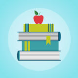 Books Stack Colorful Icon Royalty Free Stock Photography