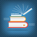 Books stack,Colorful vector design Stock Photo