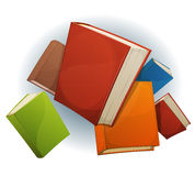 Books Stack Flying Stock Photos