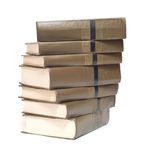 Books stack isolated on white Stock Image