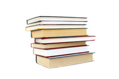 Books stack isolated on white Stock Photo