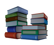 Books. A stack of books isolated on white background Stock Images
