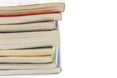 Books stack isolated Royalty Free Stock Image