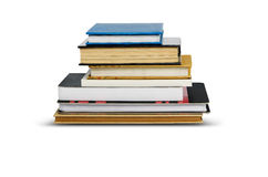Books stack isolated on white background with clipping path Stock Photo