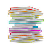 Books stack - isolated on white background Royalty Free Stock Photo