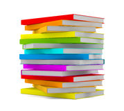 Books stack - isolated on white background Royalty Free Stock Photography