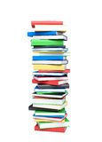 Books stack isolated on white Royalty Free Stock Images