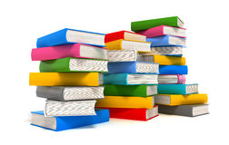 Books stack over white Stock Image