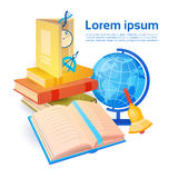 Books Stack School Stuff Education Concept Stock Photography
