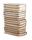 Books in a stack on white. Many books in a big stack on white background Royalty Free Stock Photography