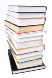Books stack. Stack of books on white background Stock Photos