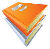 Books stacked closed illustration icon clipart. Illustration of two stacked closed books illustration icon clipart Royalty Free Stock Photo