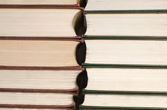 Books stacked. Forefront of a group of books stacked Stock Images