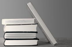 Books stacked on top of each other royalty free stock images