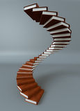 Books stair. Render of a stair made of books Stock Photography