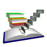 Books stairways to knowledge Royalty Free Stock Photos